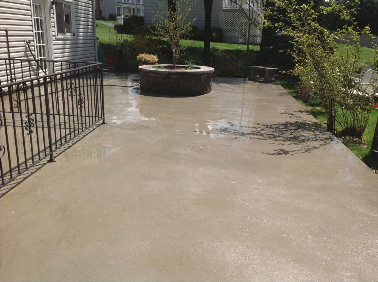 Pressure washing services osullivans pressure washing for What to clean concrete with